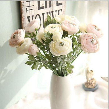 Flores artificiais 1 Ramo Estilo Moderno Rosas Flor de Mesa