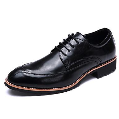 Homens sapatos Microfibra Couro Primavera Verão Conforto Oxfords Caminhada para Casual Branco Preto Marron