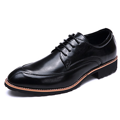Masculino sapatos Couro Microfibra Primavera Verão Oxfords Para Branco Preto Marron