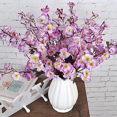 1 haara Muovi Plum Pöytäkukka Keinotekoinen Flowers