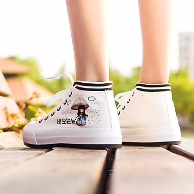 Damen Schuhe PU Frühling Komfort Flache Schuhe Für Normal Weiß