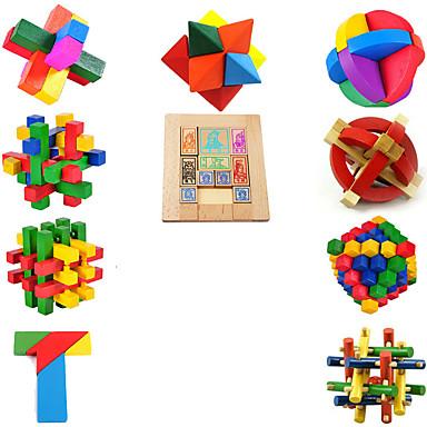 Holzpuzzle Knobelspiele Kong Ming Geduldspiel Bildungsspielsachen Spielzeuge Intelligenztest Spaß Holz Kinder Stücke