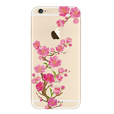 Case For iPhone 5 Apple Transparent Pattern Back Cover Flower Soft TPU for iPhone SE/5s iPhone 5