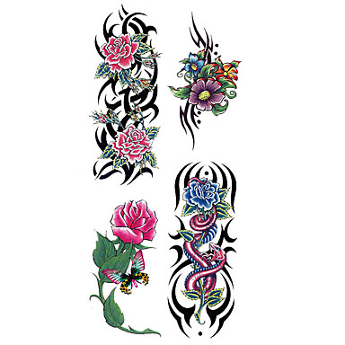 1 pcs Tattoo Stickers Temporary Tattoos Flower Series Waterproof Body Arts Hand / Arm / Wrist