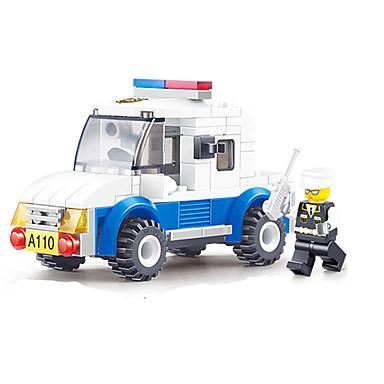 JIE STAR Robotti Rakennuspalikat kpl Neliö Ompelukone Robotti muuntuva Poliisiauto Poikien Unisex Lelut Lahja