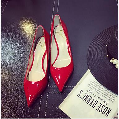 Damen Schuhe Leinwand Frühling Komfort High Heels Für Normal Rot Grün Rosa