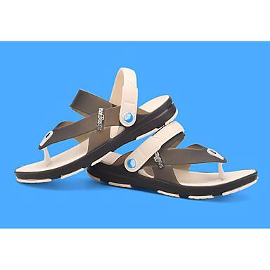 Pánské Obuv PU Jaro Pohodlné Sandály Pro Ležérní Námořnická modř Světle hnědá Námořnická modř