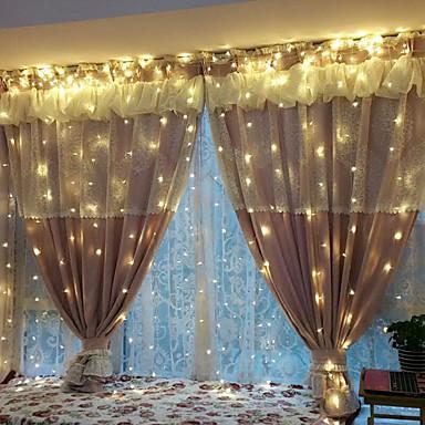 halloween 0.5w string lichter beleuchtung 3 * 2 mt 240led warmes weißes neues jahr