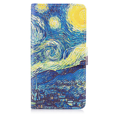 Capinha Para Samsung Galaxy A5(2017) A3(2017) Porta-Cartão Carteira Com Suporte Flip Capa Proteção Completa Cenário Rígida PU Leather para