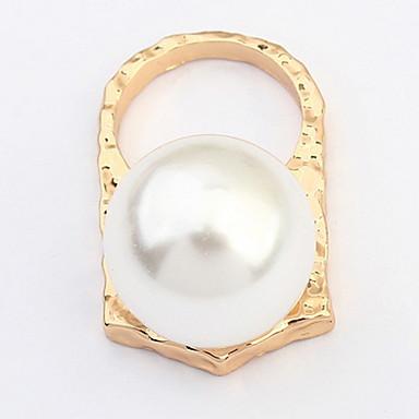 Pánské Dámské Prsten Imitace perly Přizpůsobeno Jedinečný design Logo Klasické Vintage Cikánské Základní Bristké Spojené státy Afrika
