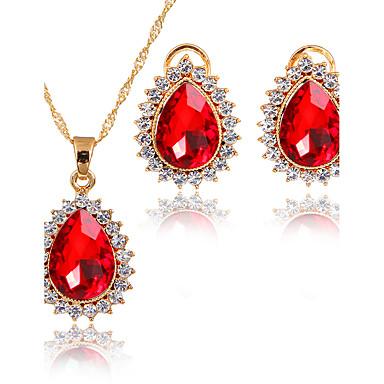 Mulheres Zircônia cúbica Zircônia Cubica Conjunto de jóias - Clássico Euramerican Fashion Adorável Estilo simples Roxo Vermelho Verde Azul