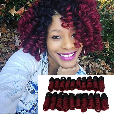 synthetic african curls curlkalon hair 20inch kenzie curls ombre color kanekalon crochet braiding hair extension bouncy curly 20roots pack