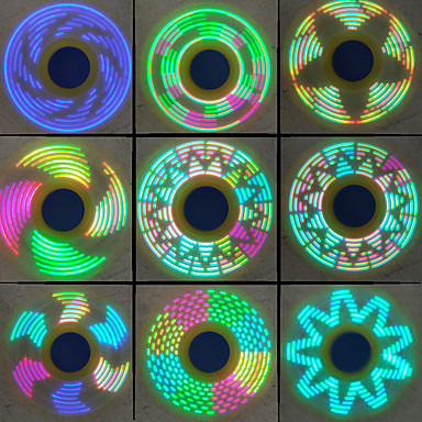 Spinners de mão / Mão Spinner / Pião O stress e ansiedade alívio / Brinquedo foco / Brinquedos de escritório Girador de Anel Metalic Peças Adulto Dom