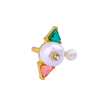 Dámské Prsten Jedinečný design Přizpůsobeno minimalistický styl Slitina Šperky Pro Svatební Párty Narozeniny