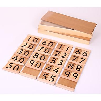 Lernkarten Bausteine Bildungsspielsachen Spielzeuge Quadratisch Holz Kinder Stücke
