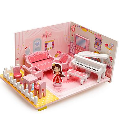 Quebra-Cabeças 3D Modelos de madeira Brinquedos de Montar Casa De madeira Crianças Para Meninas Dom