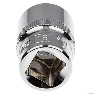 Stahl Schild 12.5mm Serie metrische 12 Winkel Standard Hülse 18mm / 1 Unterstützung