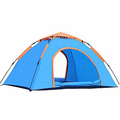 2 Personen Zelt Einzeln Camping Zelt Einzimmer Automatisches Zelt Feuchtigkeitsundurchlässig Wasserdicht UV-resistant für Camping Drinnen
