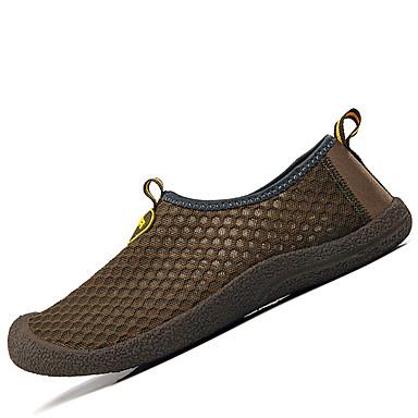 Herrn Schuhe Tüll Frühling Herbst Leuchtende Sohlen paar Schuhe Loafers & Slip-Ons für Sportlich Draussen Grau Rose Rosa Braun Hellblau