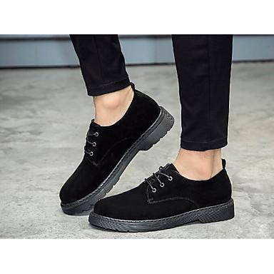 Miehet kengät Mokkanahka Kevät Comfort Oxford-kengät varten Kausaliteetti Musta Tumman ruskea