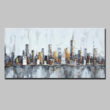 mintura® grande pintados à mão faca pintura a óleo sobre tela moderna abstrata cidade arte da parede fotos para decoração de casa pronto para pendurar