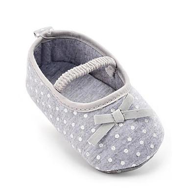 Para Meninos Sapatos Tecido Verão Primeiros Passos Mocassins e Slip-Ons Laço / Poa para Crianças Cinzento / Festas & Noite