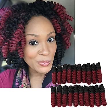 Glamouroso e Dramático 100% cabelo kanekalon 100% cabelo kanekalon Tranças Encaracoladas Tranças de cabelo