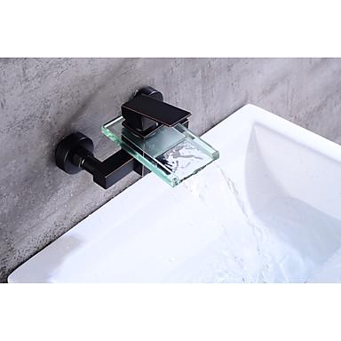 Vanová baterie - Moderní Starožitný Olejem leštěný bronz Baterie na střed Keramický ventil