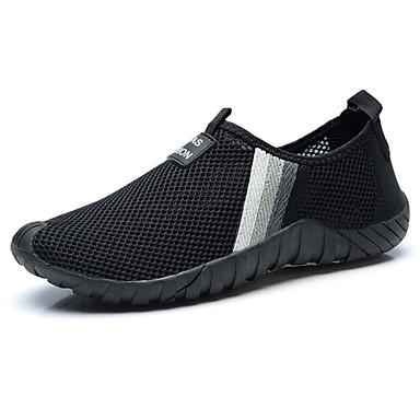 Miesten kengät PU Kevät Syksy Comfort Urheilukengät varten Kausaliteetti Musta Harmaa