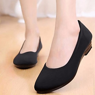 Naiset Kengät PU Kaikki vuodenajat Comfort Sandaalit Käyttötarkoitus Kausaliteetti Musta
