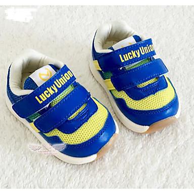 Tyttöjen kengät Tekonahka Kevät Syksy Ensikengät Tasapohjakengät Kävely Tarranauhalla varten Kausaliteetti Sininen Pinkki