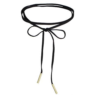 Damen Mädchen Kreisförmig Gestalten Personalisiert Kreisförmiges Retro Grundlegend Bänder Herz nette Art Simple Style Halsketten Schmuck
