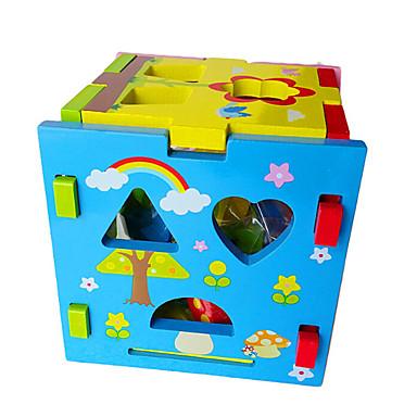 Bausteine Steckpuzzles Spielzeuge Quadratisch Holz Kinder Stücke