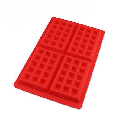 1 Stück 4 Löcher quadratische Form für Schokolade für Keks Silikon Geburtstag