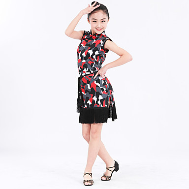 Latein-Tanz Kinder Gürtel Ärmellos Normal Kleid Gürtel