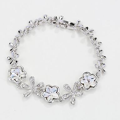 Dámské Řetězové & Ploché Náramky Šperky příroda Módní Retro Ručně vyrobeno bižuterie Křišťál Slitina Star Shape Šperky Pro Svatební Párty