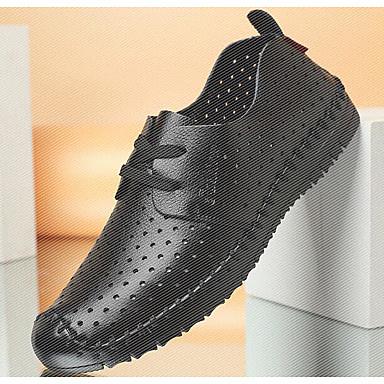 Herren Sneaker Komfort Frühling Mikrofaser Normal Schwarz Braun Flach