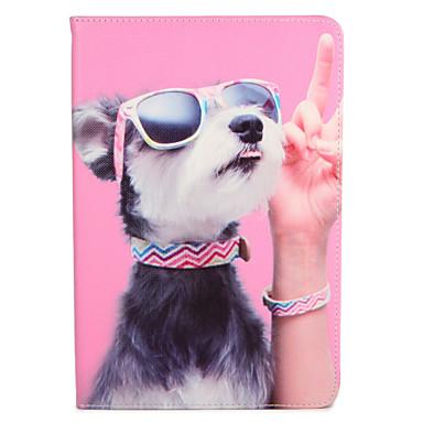 Capinha Para Apple iPad 4/3/2 iPad Air 2 iPad Air Com Suporte Flip Estampada Capa Proteção Completa Cachorro Rígida PU Leather para iPad