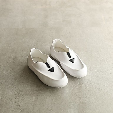 Mädchen Loafers & Slip-On Komfort Frühling Sommer PU Normal Flacher Absatz Weiß Schwarz 2,5 - 4,5 cm