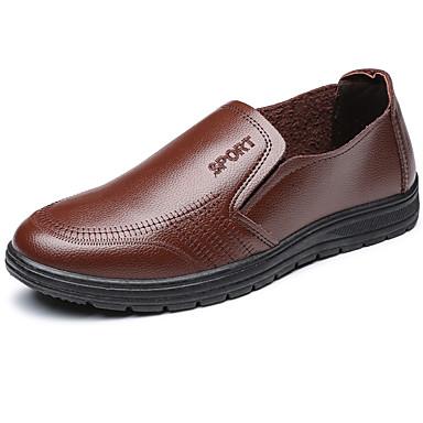 Herren Schuhe Kunstleder PU Sommer Herbst formale Schuhe Loafers & Slip-Ons für Normal Party & Festivität Schwarz Braun