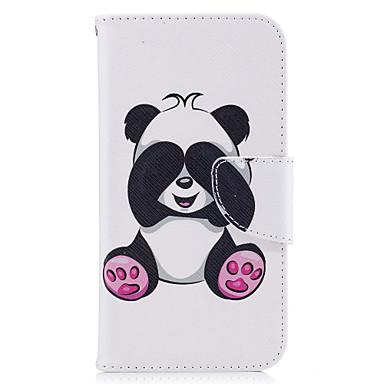 Capinha Para Samsung Galaxy Porta-Cartão Carteira Com Suporte Flip Magnética Estampada Capa Proteção Completa Panda Rígida PU Leather para