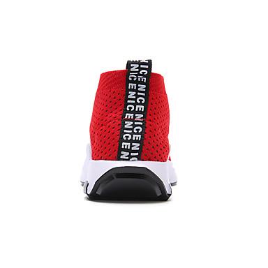 Tulle Gris rond Rouge Pied Bout Course Talon Chaussures Basket Noir Eté Plat Femme 05960077 Printemps à Tqw5PC
