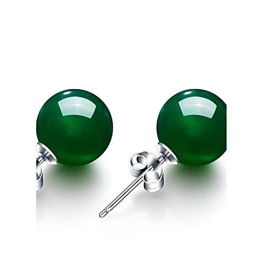 Women's Synthetic Emerald Stud Earrings - Emerald Vintage, Fashion Green For Wedding Party Anniversary