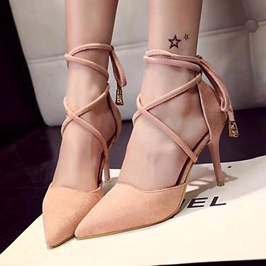 Naiset Kengät PU Kevät Comfort Sandaalit Käyttötarkoitus Kausaliteetti Musta Pinkki Khaki
