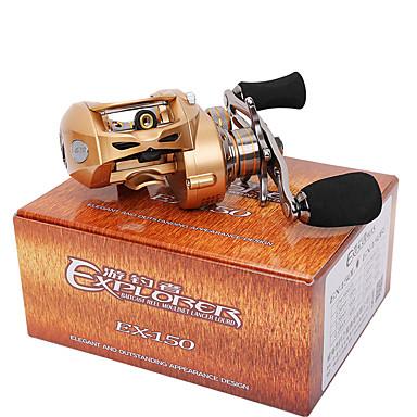 Molinete de Isca 7.0:1 Relação de Engrenagem+9 Rolamentos Canhoto Isco de Arremesso Pesca de Isco - EX150-L