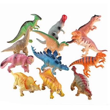 Dragões & Dinossauros / Figura do dinossauro Dinossauro jurássico / Velociraptor / Triceratops Silicone / Plástico Para Meninos Crianças Dom