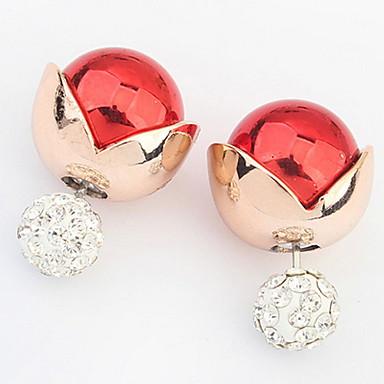 Damen Ohrstecker Tropfen-Ohrringe Kreolen Synthetischer Diamant Personalisiert Blumig Religiöser Schmuck Luxus Einzigartiges Design Logo