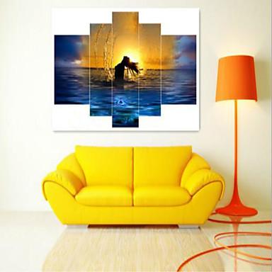 Reprodukce umění Krajina Moderní,Pět panelů Horizontální Grafika Wall Decor For Home dekorace