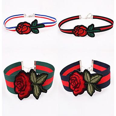Damen Blume Modisch Euramerican Halsketten Stoff Halsketten . Party Geburtstag Alltag