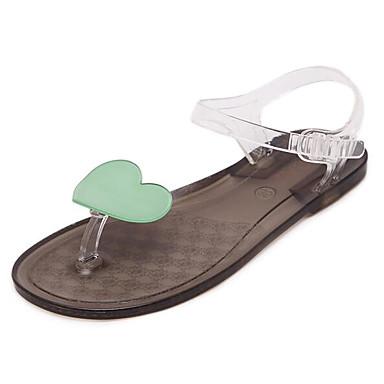Naiset Kengät PP (polypropeeni) Kesä Slingback Sandaalit Tasapohja Käyttötarkoitus Kausaliteetti Sininen Musta/valkoinen